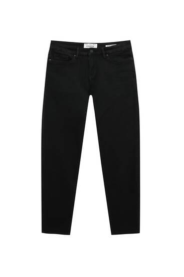 Schwarze Basic-Jeans im Superskinny-Fit