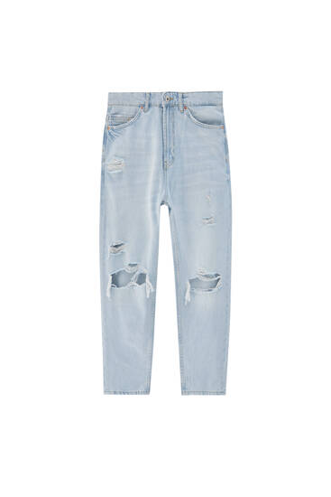 Jeans im Relaxed-Fit mit Rissen