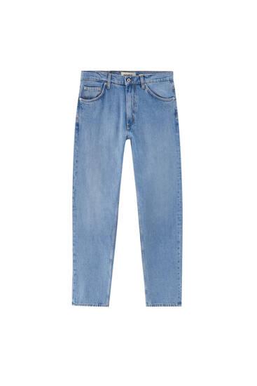 Jeans básicos corte wide leg