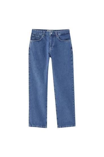 Τζιν παντελόνι basic dad fit