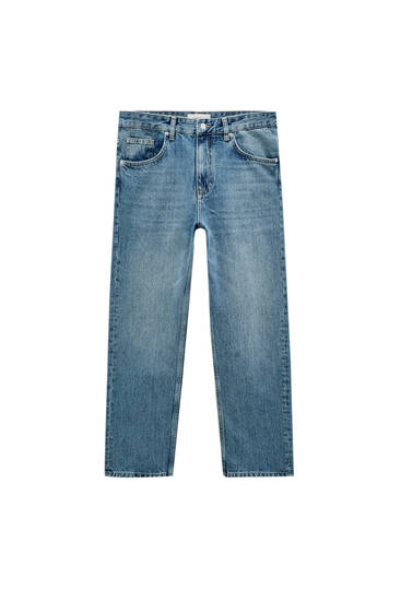 Premium vintage straight-leg jeans