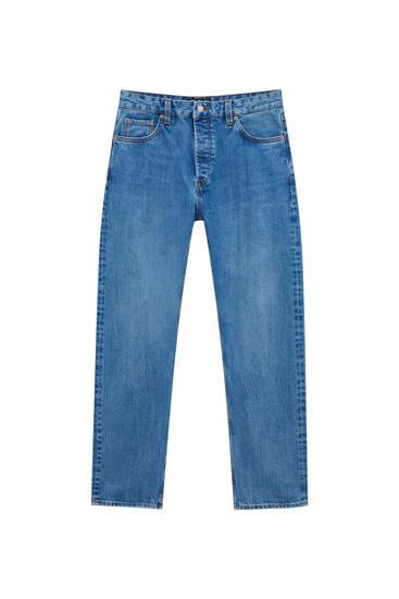 Jeans selvedge em tecido premium