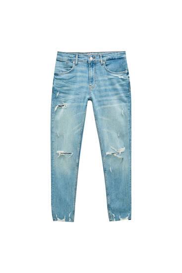 Premium-Skinny-Jeans mit Rissen