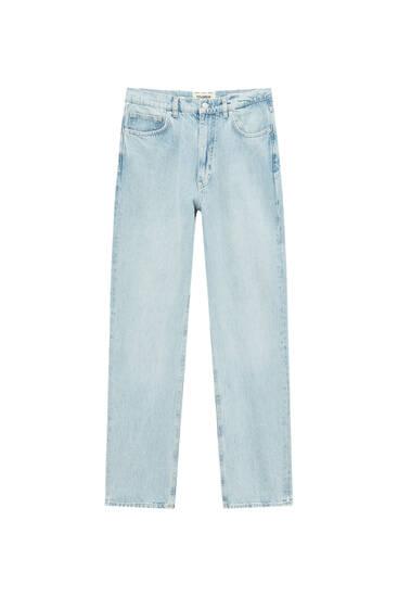 Jeans direitas de perna larga