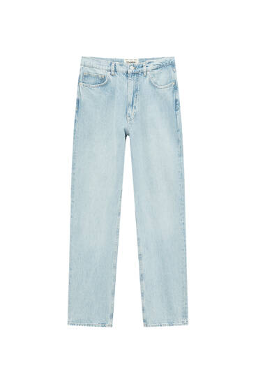 Wide-leg straight fit jeans