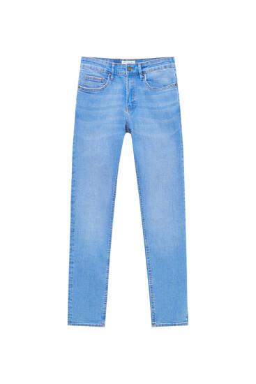 Μπλε τζιν παντελόνι super skinny basic