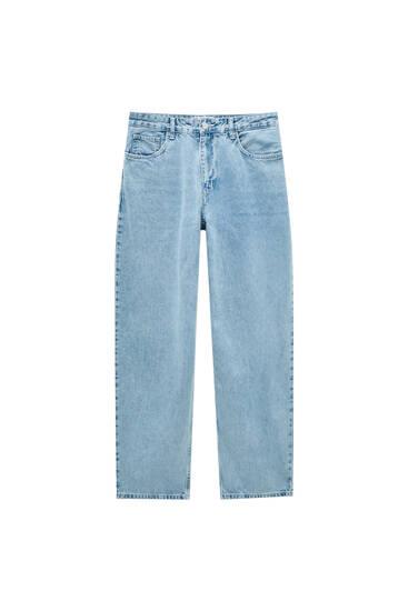 Сині джинси мішкуватого крою