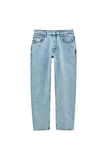 Сині джинси з мармуровим вареним ефектом