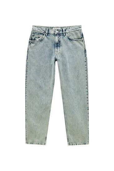 Зелені джинси з мармуровим вареним ефектом