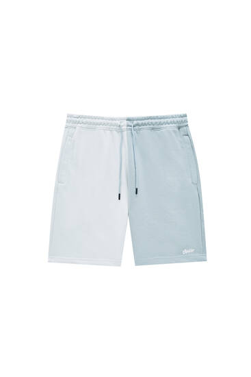 Colour block Bermuda jogger shorts - Contains recycled polyester