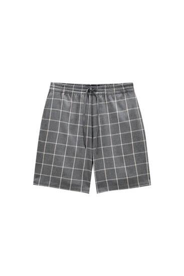 Grey check Bermuda shorts