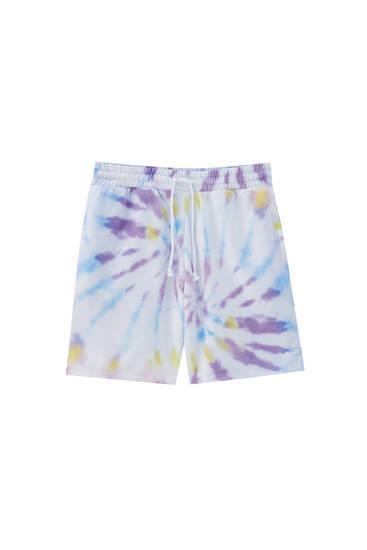 Bermuda jogger print tie-dye
