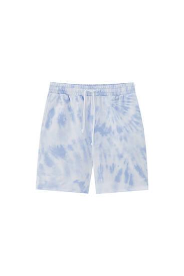 Tie-dye print jogger Bermuda shorts