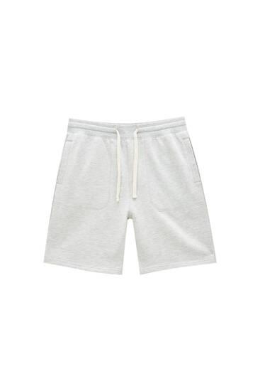 Basic jogger Bermuda shorts