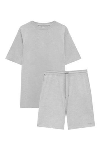 Jogger Bermuda shorts and T-shirt pack