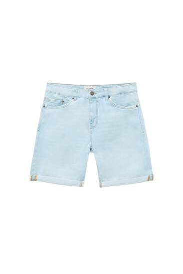 Базові блакитні джинсові шорти вузького крою