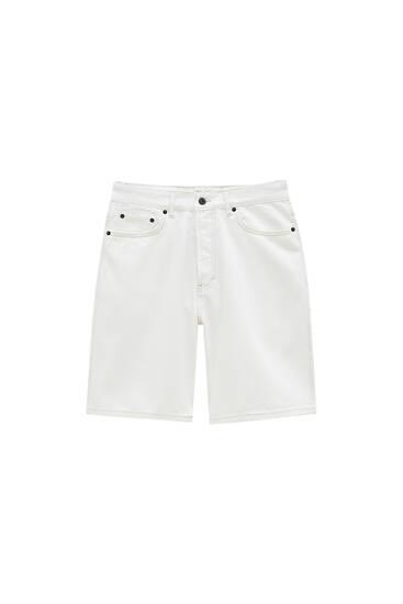 Білі шорти вільного крою