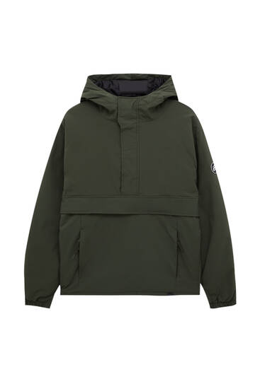 Basic puffer anorak jacket