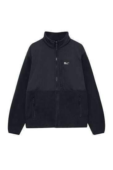 Jacke aus Fleece und kombinierten Stoffen