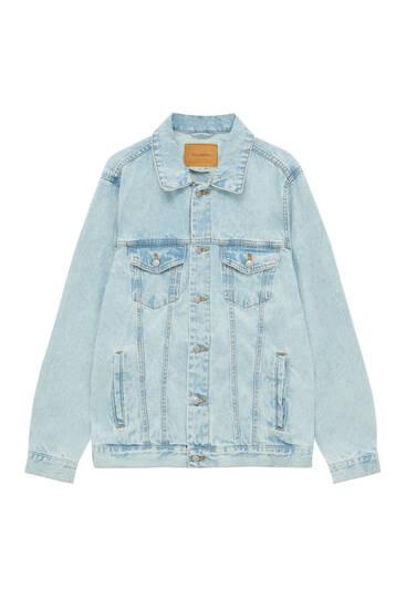 Базова блакитна джинсова куртка