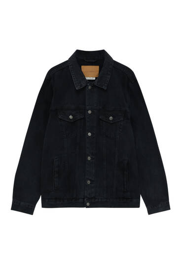 Basic black denim jacket
