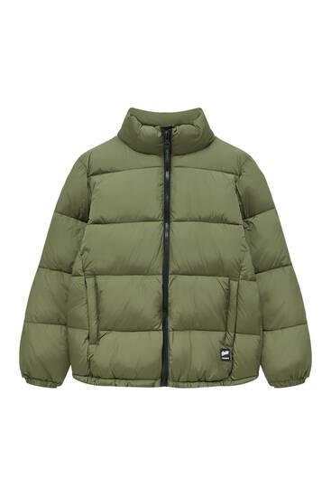 Basic high collar puffer jacket