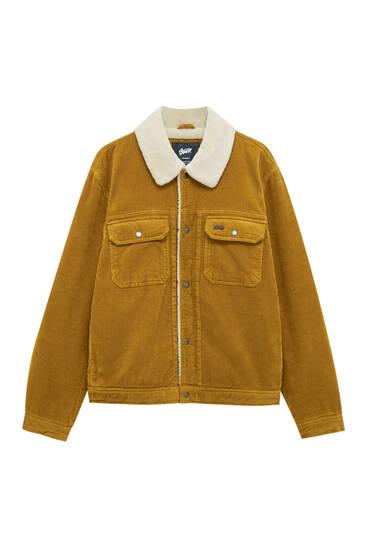 Вельветовая куртка с отделкой из искусственной овчины