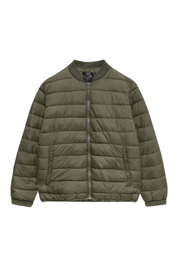 Basic quilted bomber jacket