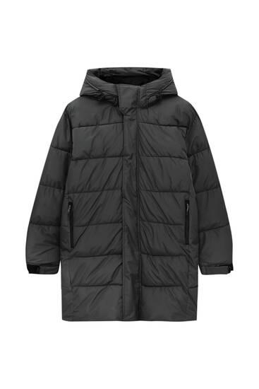Μακρύ καπιτονέ παλτό basic