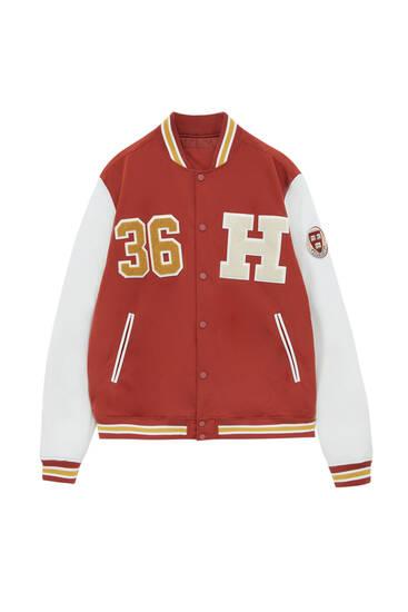 Bomber jakna u koledž stilu Harvard