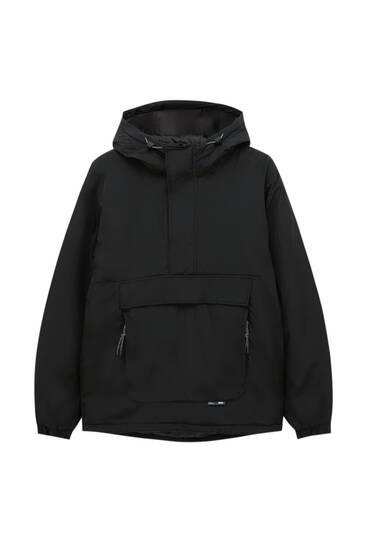 Schwarze Jacke mit Bauchtasche 3M Thinsulate