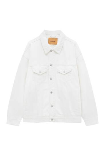 Oversize coloured denim jacket