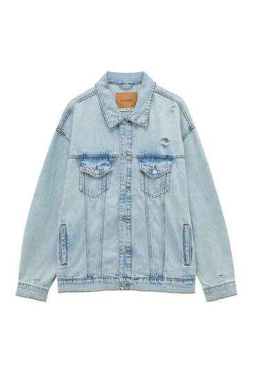 Veste en jean couleurs oversize
