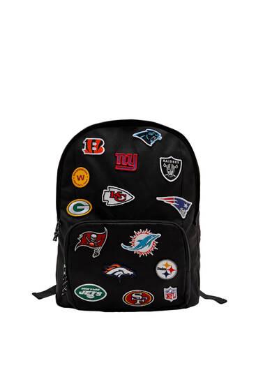Black NFL logos backpack