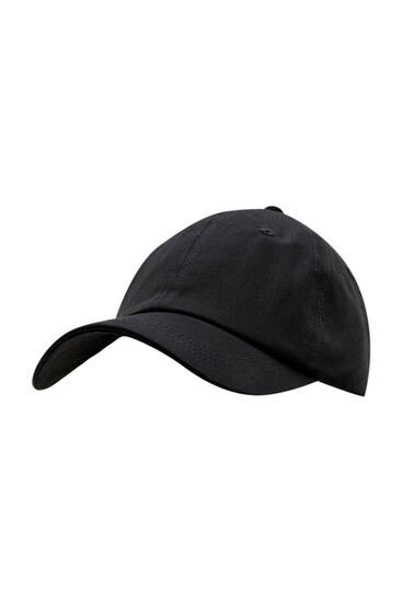 Basic black cap - 100% ecologically grown cotton