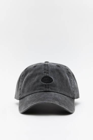 Ξεβαμμένο μαύρο καπέλο τζόκεϊ basic