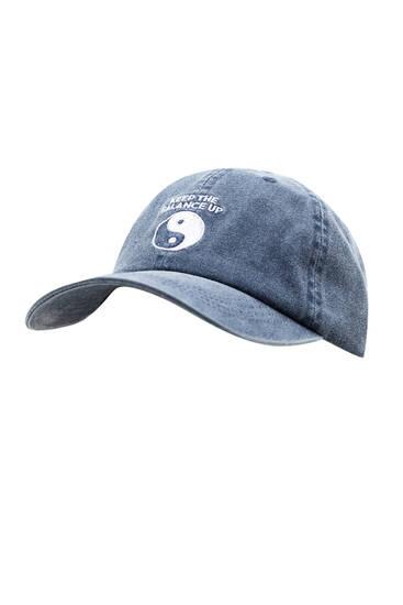 Ξεβαμμένο μπλε καπέλο τζόκεϊ