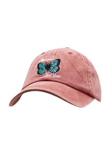 Faded butterfly cap