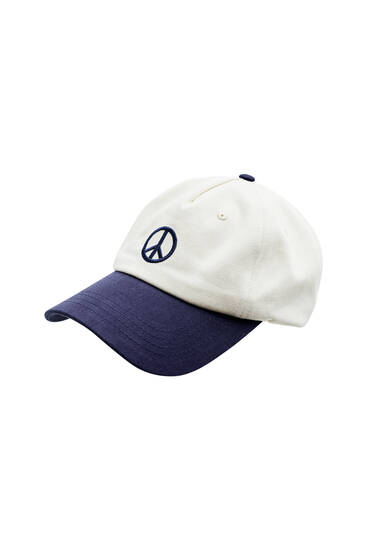 Gorra símbolo paz