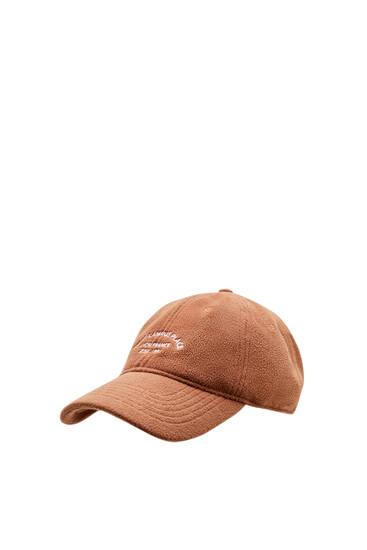 Καπέλο τζόκεϊ με κεντημένο κείμενο μπροστά