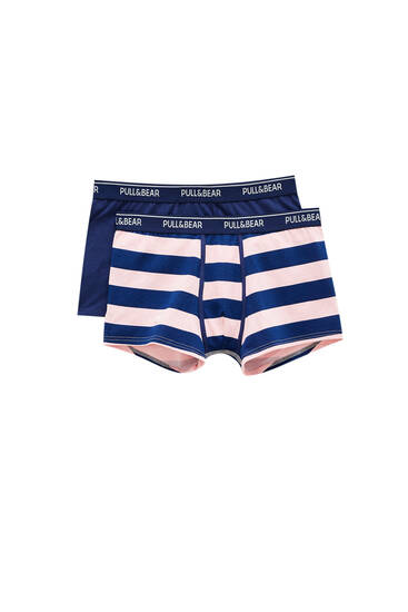 2-pack of boxers with wide stripes