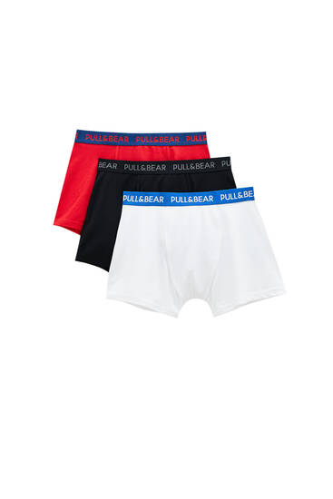 3-Pack of contrast colour boxers