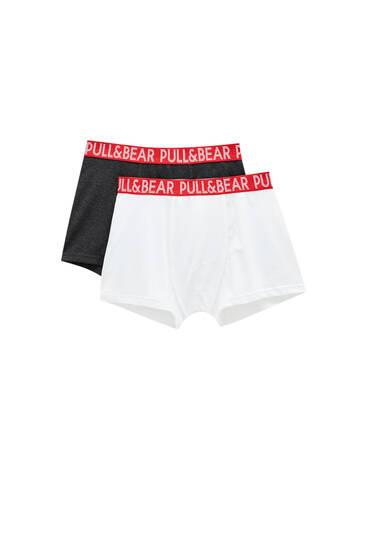 Pack 2 bóxers cintura roja