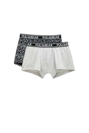 2-pack of boxers with Pull&Bear elastic waistband