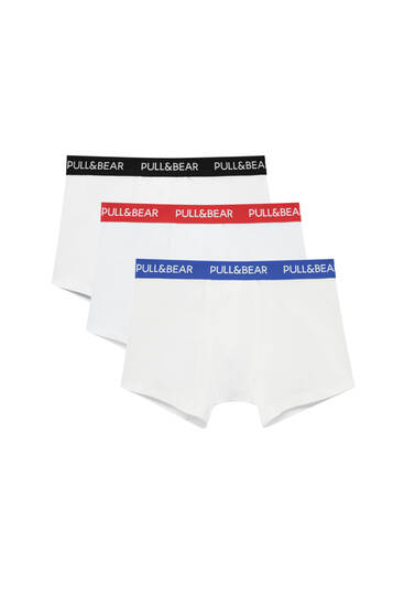Lot 3 boxers blancs taille multicolore