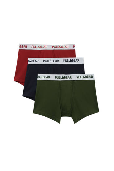 Lot 3 boxers couleurs taille blanche