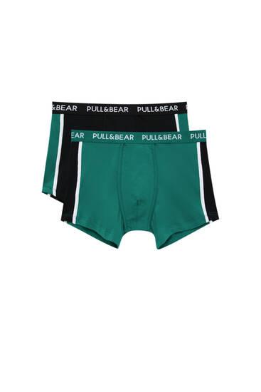 Lot 2 boxers verts et noirs