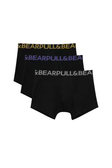 Lot 3 boxers taille couleurs rayures