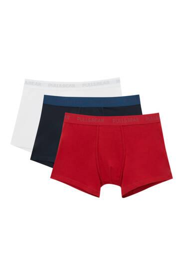 Lot 3 boxers couleurs