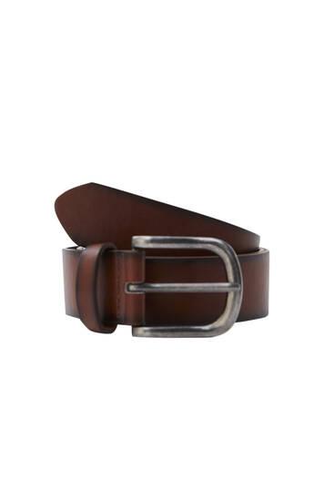 Cinturón efecto piel marrón degradado